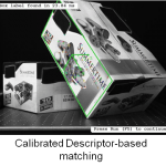 Calibrated descriptor based matching